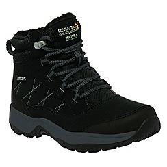 Regatta - Kids Black Mountpeak mid walking boot