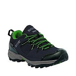 Regatta - Boys Grey/ green holcombe waterproof shoe