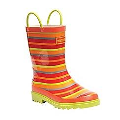 Regatta - Kids Orange 'Minnow' junior wellington boot
