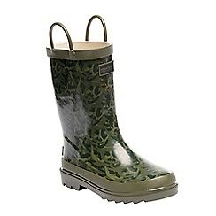 Regatta - Kids green minnow wellies