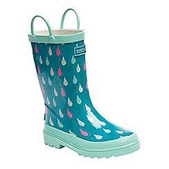 Regatta - Kids aqua minnow wellies