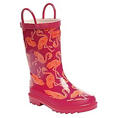Regatta - Kids pink minnow wellies