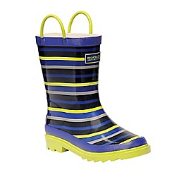 Regatta - Kids Blue 'Minnow' junior wellington boot