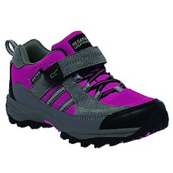Regatta - Kids Pink/grey trailspace walking shoe