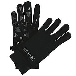 Regatta - Black 'Grippy' kids gloves