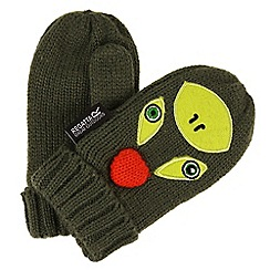 Regatta - Green 'Animally' kids mittens