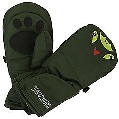 Regatta - Green 'Spatter' kids mittens