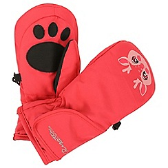 Regatta - Pink 'Spatter' kids mittens