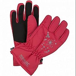 Regatta - Pink 'Arlie' kids waterproof gloves
