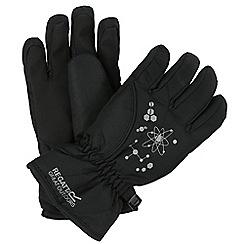 Regatta - Black 'Arlie' kids waterproof gloves