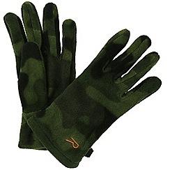 Regatta - Green 'Fallon' kids fleece gloves