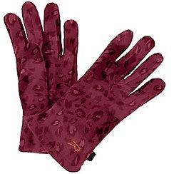 Regatta - Red 'Fallon' kids fleece gloves