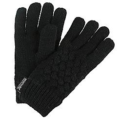 Regatta - Black 'Merle' kids gloves