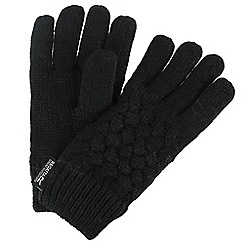 Regatta - Black 'Merle' kids gloves