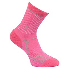 Regatta - Pink '2season' trek and trail kids socks