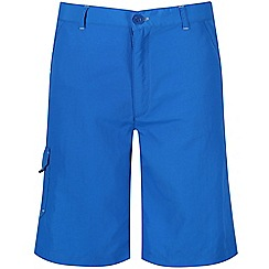 Regatta - Boys' blue 'Sorcer' crease resistant shorts