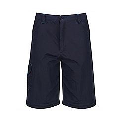 Regatta - Kids Blue sorcer zip off trousers