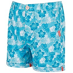 Regatta - Girls' blue 'Damzel' shorts