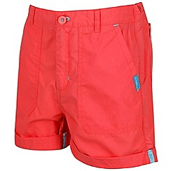 Regatta - Girls' red 'Damzel' shorts