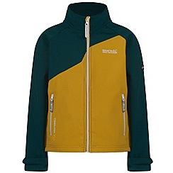 Regatta - Kids Yellow Vargo softshell jacket
