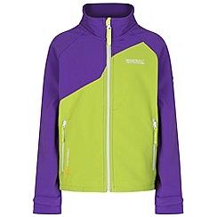 Regatta - Kids Purple Vargo softshell jacket