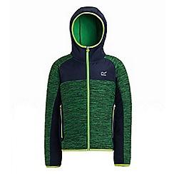Regatta - Green 'Tumulus' kids softshell hooded jacket