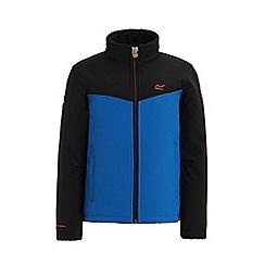 Regatta - Black 'Rivendale' kids softshell jacket