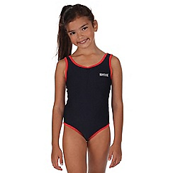 Regatta - Girls Navy diver swimming costume