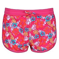 Regatta - Pink 'Frilla' kids swim short