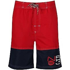 Regatta - Red 'Shaul' kids swim shorts