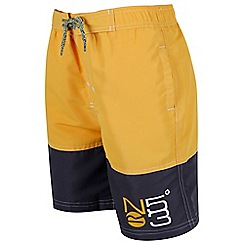 Regatta - Boys' yellow 'Shaul' swim shorts