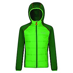 Regatta - Kids Green 'Kielder' waterproof hybrid jacket
