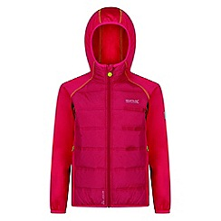 Regatta - Kids Pink 'Kielder' waterproof hybrid jacket