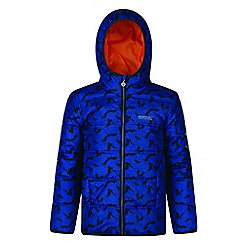 Regatta - Kids Blue 'Coulby' print jacket