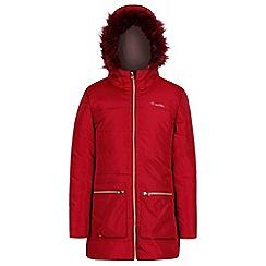 Regatta - Red 'Cherry hill' girls hooded coat
