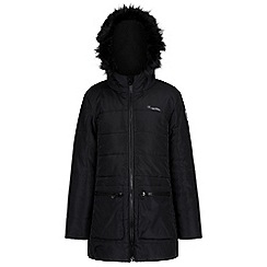Regatta - Black 'Cherry hill' girls hooded coat