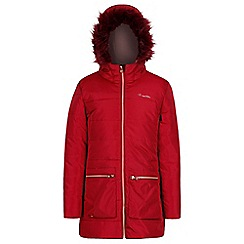 Regatta - Red 'Cherry hill' girls hooded coat