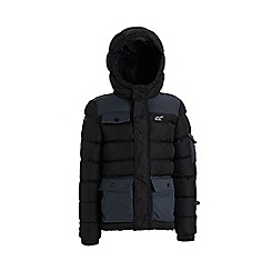 Regatta - Black 'Larimar' boys quilted hooded jacket