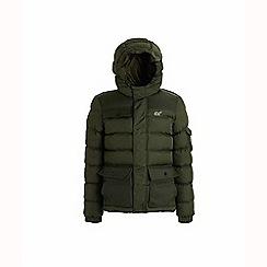 Regatta - Green 'Larimar' boys quilted hooded jacket