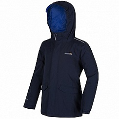 Regatta - Boys Navy Hurdle waterproof jacket