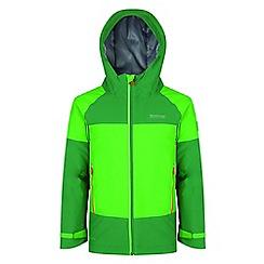 Regatta - Kids Green 'Aptitude' waterproof jacket
