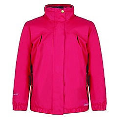 Regatta - Kids Pink 'Sugarwell' waterproof jacket