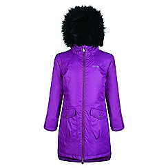Regatta - Kids Purple 'Hollybank' parka jacket