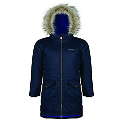Regatta - Kids Blue 'Hollybank' parka jacket