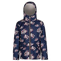 Regatta - Blue 'Berezie' girls waterproof hooded jacket