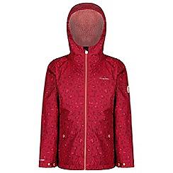 Regatta - Red 'Berezie' girls waterproof hooded jacket