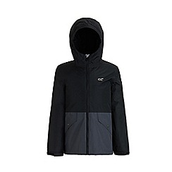 Regatta - Black 'Sawyer' kids waterproof hooded jacket