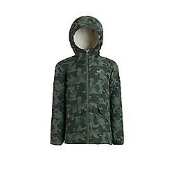 Regatta - Green 'Sawyer' kids waterproof hooded jacket