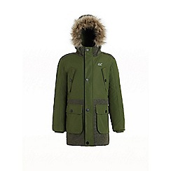 Regatta - Green 'Payton' boys waterproof hooded parka jacket