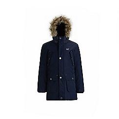 Regatta - Blue 'Payton' boys waterproof hooded parka jacket